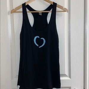 Cents of Style Heart Racer Back Tank in Black